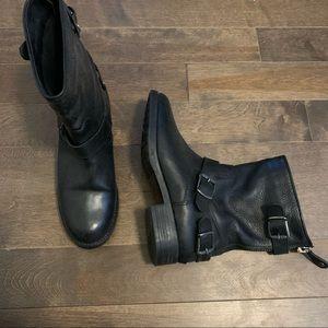 Fabianelli leather Italian moto short boots 39